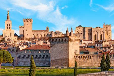 Vista del Palacio Papal en Aviñón