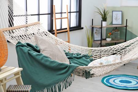 White hammock in the interior