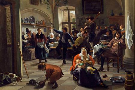 "Jan Steen: ""Distracție în tavernă"""