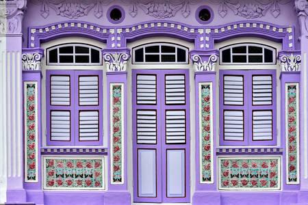 Винтидж фасада на магазин в Сингапур