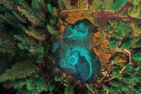 Гейзерне озеро на Алтаї