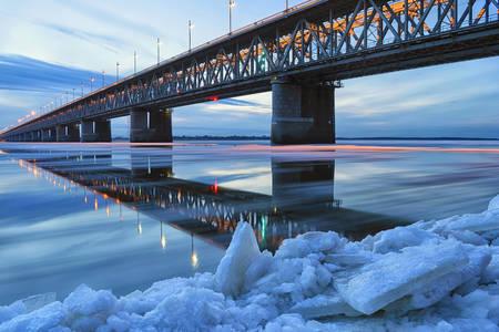 Amursky bridge near Khabarovsk