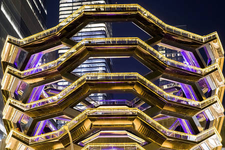 Modern architecture of the Hudson Yards area