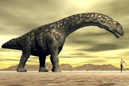Argentinosaurus in the desert