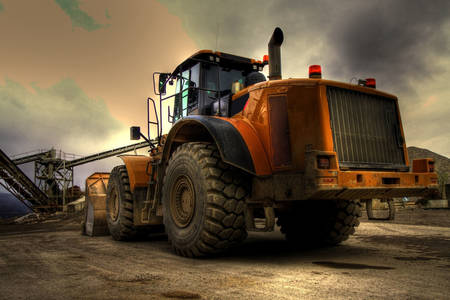 Big bulldozer