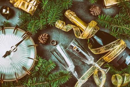 Neujahrs-Champagner