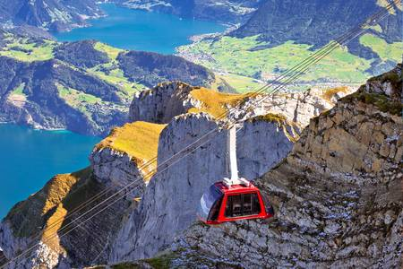 Cable car to Mount Pilatus