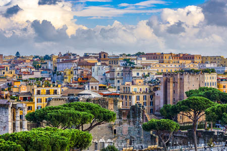 View of the houses of Rome