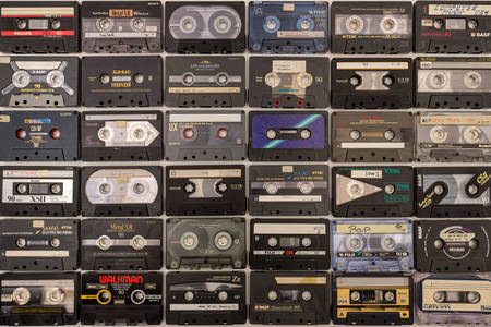 Raccolta di cassette audio