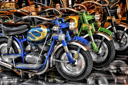 Retro motorcycles