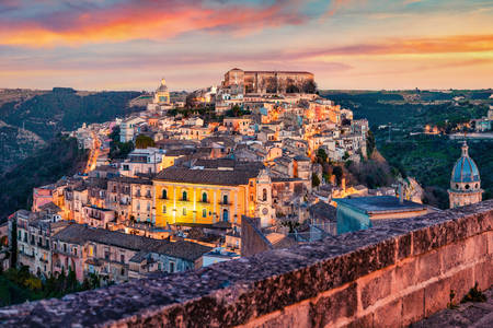 Ragusa city view