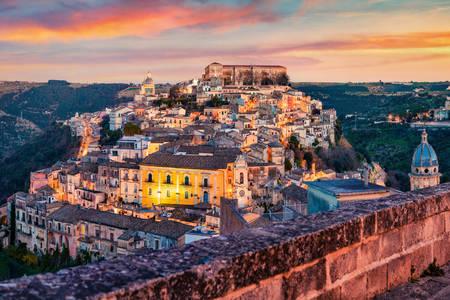 Vista de la ciudad de Ragusa