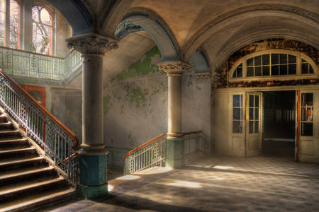 Abandoned sanatorium Beelitz-Heilstätten