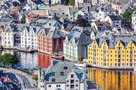 Alesund city architecture