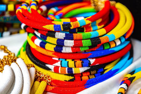 Colorful African traditional ornaments