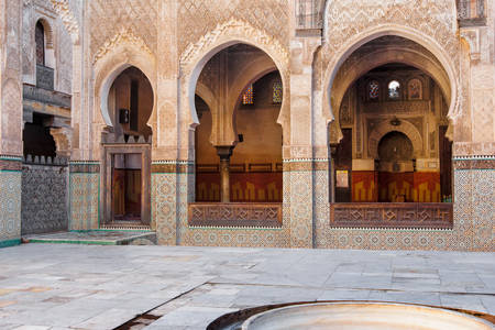 The inner courtyard of the mosque