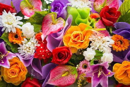 Bouquet de fleurs différentes