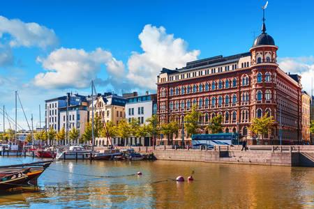 Marina of the Old Port in Helsinki