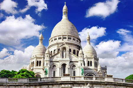 Basilica of the Sacre Coeur in Montmartre