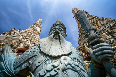 Scultura nel tempio di Wat Arun