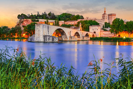 View of the Saint-Benese bridge