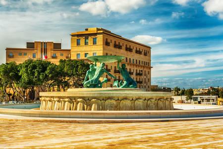 Fountain of Tritons in Valletta
