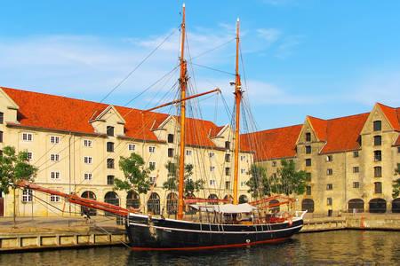 Kopenhag'daki eski gemi