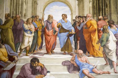 "Fresco by Raphael ""School of Athens"""