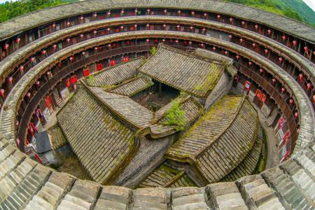 Tulou rural dwellings in Fujian province