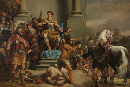 "Ferdinand Bol: ""Consul Titus Manlius Torquatus Orders the Beheading of his Son"""