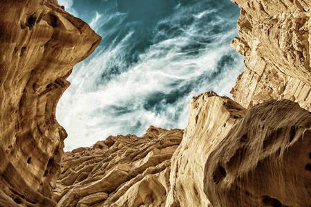 Canyon rosso nelle montagne di Eilat