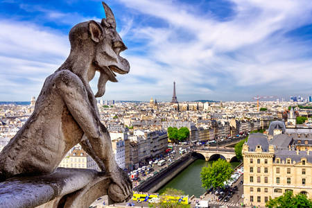 Gargoyle of the Cathedral of Notre Dame de Paris