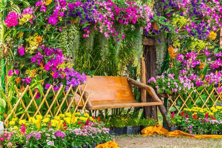 Blooming garden