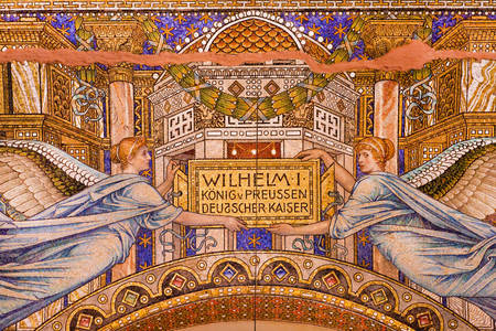 Colorful mosaic in the Kaiser Wilhelm Memorial Church