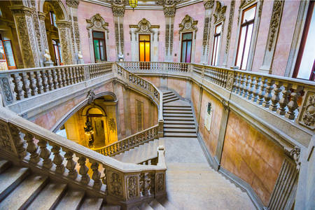 Stairs in the Palacio da Bolsa
