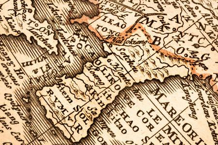 Old map of the Korean Peninsula