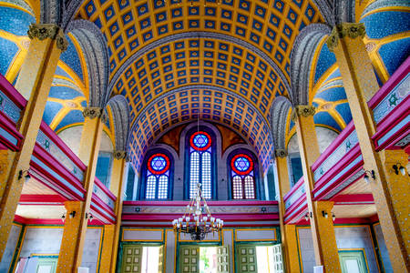 Interior of the Great Synagogue Edirne