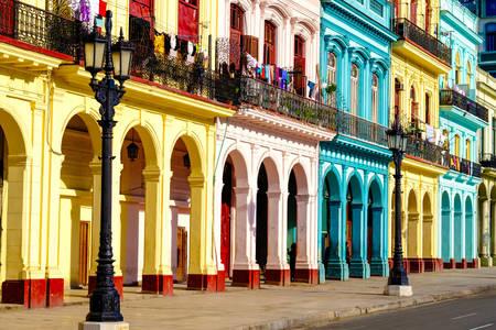 Eski Havana'daki sömürge binaları