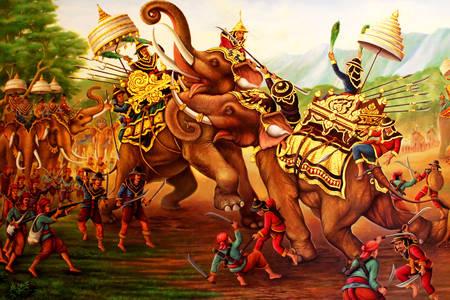 War elephants at war