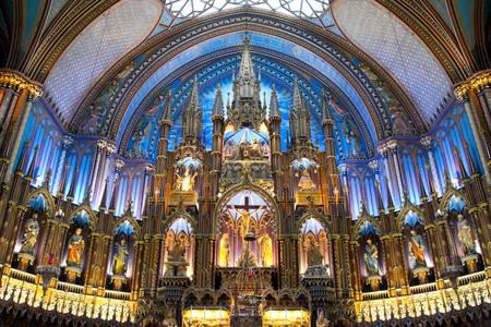 Oltar bazilike Notre Dame de Montreal