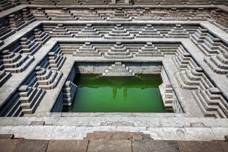 Step water tank in Hampi