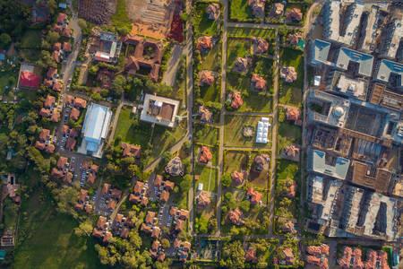 Letecký pohľad na Nairobi
