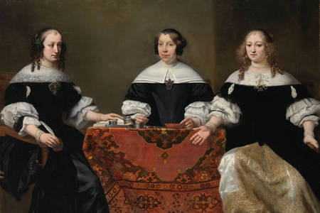 Ferdinand Bol: Portrait of the Three Regentesses of the Leprozenhuis, Amsterdam