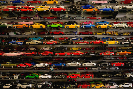 Collection of children's cars