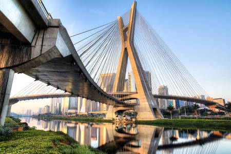 Cable-stayed bridge in Sao Paulo