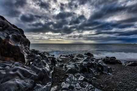 De zee voor de storm