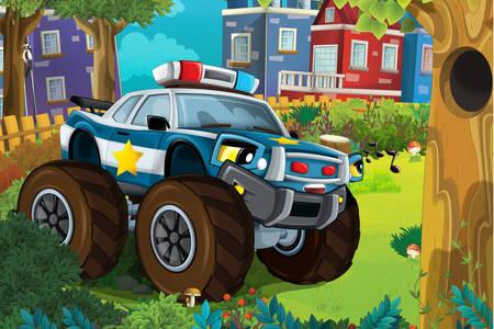 Jeep de police