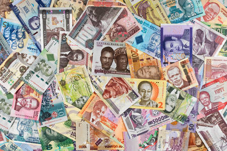 Collection of African banknotes