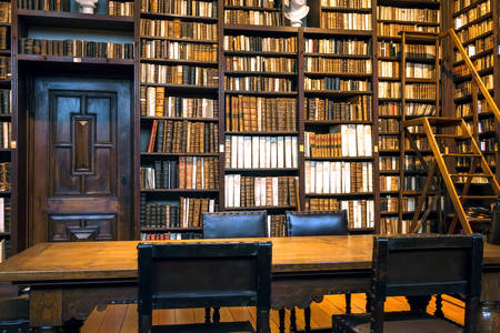 Old Library in the Museum of Plantin-Moretus
