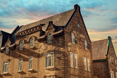 Edifícios antigos em Quebec
